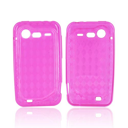 HTC Droid Incredible 2 Crystal Silicone Case - Argyle Hot Pink