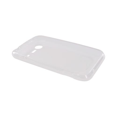 HTC Droid Incredible 2 Crystal Silicone Case - Transparent Clear Wave