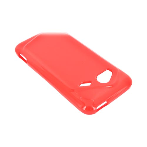 HTC Droid Incredible 4G Crystal Silicone Case - Argyle Red