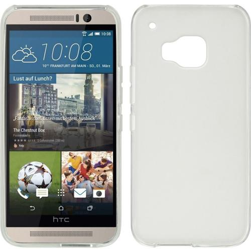 HTC One M9 Case, [Clear]  Slim & Flexible Anti-shock Crystal Silicone Protective TPU Gel Skin Case Cover
