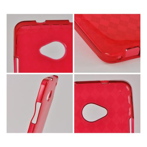 Argyle Red Crystal Silicone Case for HTC One