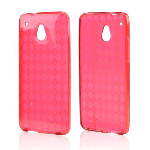 Red Crystal Silicone Skin Case for HTC One Mini