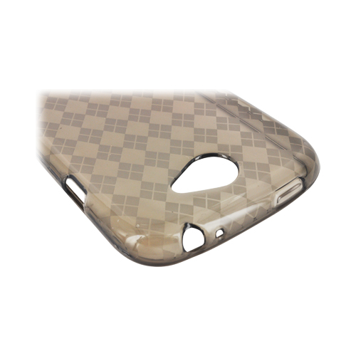HTC One S Crystal Silicone Case - Argyle Smoke
