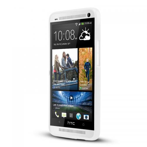 White Crystal Silicone Skin Case for HTC One
