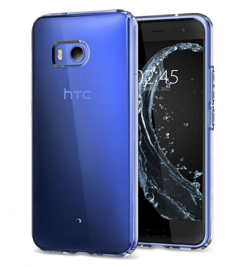 HTC U11 TPU Case, [REDshield] Slim & Flexible Anti-shock Crystal Silicone Protective TPU Gel Skin Case Cover [Clear] with Travel Wallet Phone Stand