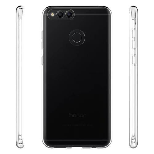 [Huawei Honor 7X] [REDSHIELD] TPU Case, Slim & Flexible Anti-shock Crystal Silicone Protective TPU Gel Skin Case [CLEAR]
