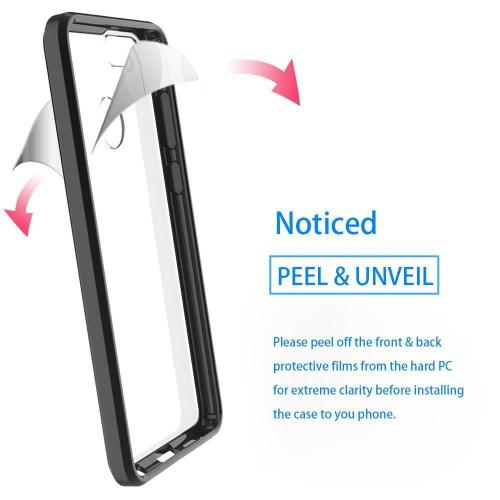 [Huawei Honor 7X] [REDSHIELD] TPU Case, Slim & Flexible Anti-shock Crystal Silicone Protective TPU Gel Skin Case [BLACK BORDER W/ CLEAR BACK]
