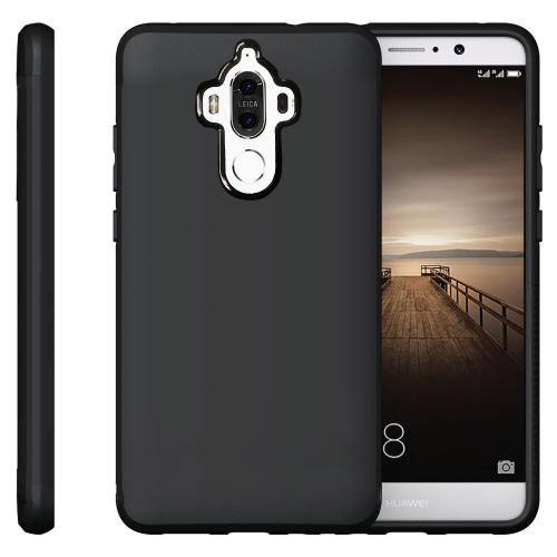 [REDshield] Huawei Mate 9 TPU Case, Slim & Flexible Anti-shock Crystal Silicone Protective TPU Gel Skin Case [Black]