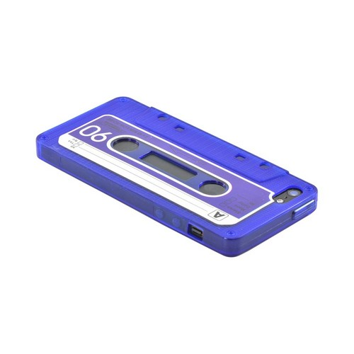 Made for Apple iPhone 5/5S Crystal Silicone Case - Blue Cassette by Redshield