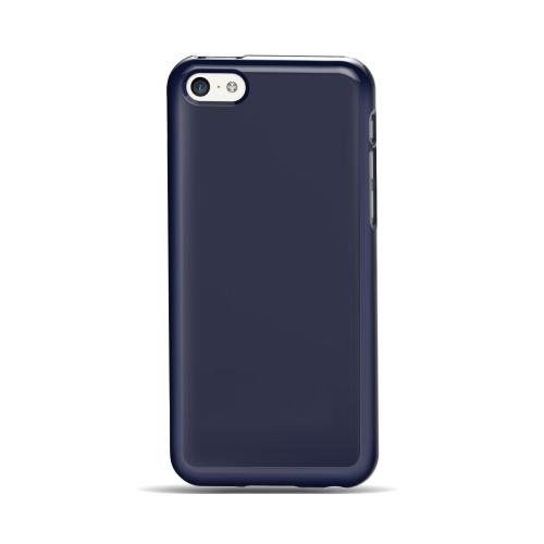 Apple iPhone 5C Case | Anti-Slip TPU Crystal Silicone Skin Case [Navy] & Free Screen Protector