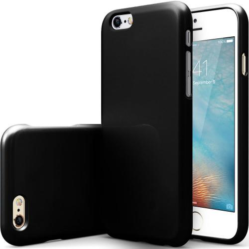 Made for Apple iPhone 6/ 6S Case, [Black] Slim Flexible Anti-shock Crystal Silicone Protective TPU Gel Skin Case Cover with Travel Wallet Phone Stand by Redshield