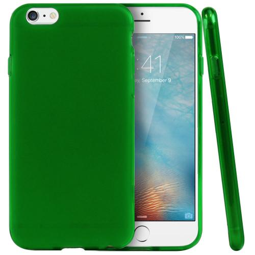 Apple iPhone 6/ 6S Case, REDshield [Neon Green / Frost] Slim & Flexible Anti-shock Crystal Silicone Protective TPU Gel Skin Case Cover  with Travel Wallet Phone Stand
