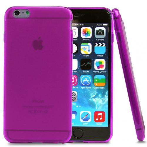 Made for Apple iPhone 6 PLUS/6S PLUS (5.5 inch) Case,  [Hot Pink/ Frost]  Slim Flexible Anti-shock Crystal Silicone Protective TPU Gel Skin Case Cover by Redshield