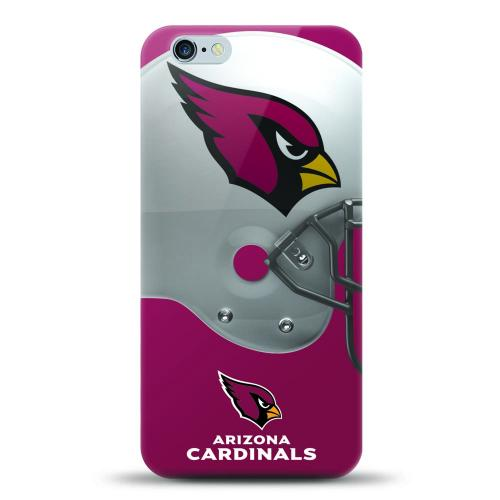 [MIZCO] Apple iPhone 6S / 6 Case, Helmet Series NFL Licensed [Arizona Cardinals] Slim & Flexible Anti-shock Crystal Silicone Protective TPU Gel Skin Case Cover