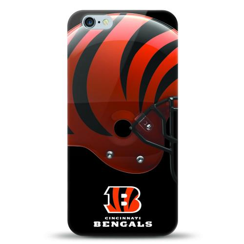 [MIZCO] Apple iPhone 6S / 6 Case, Helmet Series NFL Licensed [Cincinnati Bengals] Slim & Flexible Anti-shock Crystal Silicone Protective TPU Gel Skin Case Cover