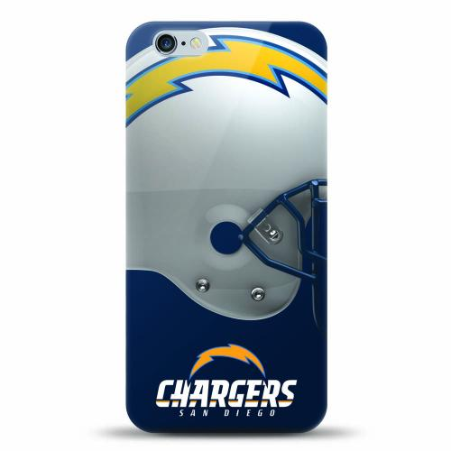 [MIZCO] Apple iPhone 6S Plus / 6 Plus Case, Helmet Series NFL Licensed [San Diego Chargers] Slim & Flexible Anti-shock Crystal Silicone Protective TPU Gel Skin Case Cover