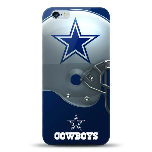 Made for Apple iPhone 6S Plus / 6 Plus Case, Helmet Series NFL Licensed [Dallas Cowboys] Slim Flexible Anti-shock Crystal Silicone Protective TPU Gel Skin Case Cover by Mizco