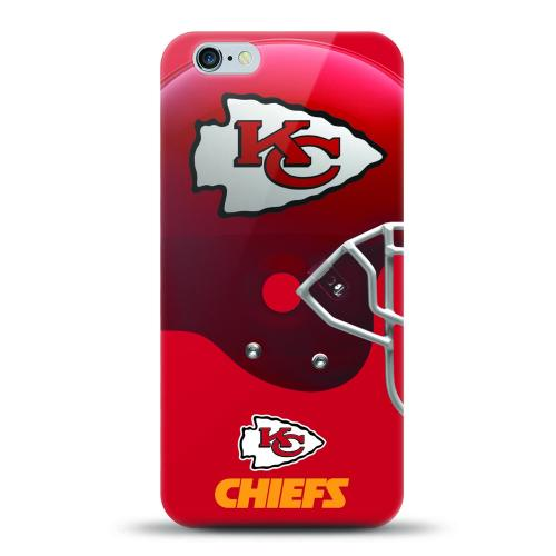 [MIZCO] Apple iPhone 6S Plus / 6 Plus Case, Helmet Series NFL Licensed [Kansas City Chiefs] Slim & Flexible Anti-shock Crystal Silicone Protective TPU Gel Skin Case Cover