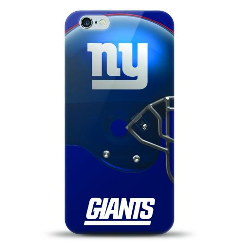 [MIZCO] Apple iPhone 6S Plus / 6 Plus Case, Helmet Series NFL Licensed [New York Giants] Slim & Flexible Anti-shock Crystal Silicone Protective TPU Gel Skin Case Cover