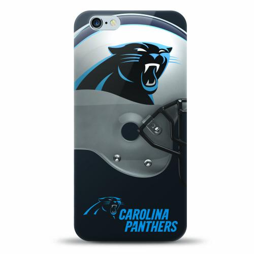 Made for Apple iPhone 6S Plus / 6 Plus Case, Helmet Series NFL Licensed [Carolina Panthers] Slim Flexible Anti-shock Crystal Silicone Protective TPU Gel Skin Case Cover by NFL