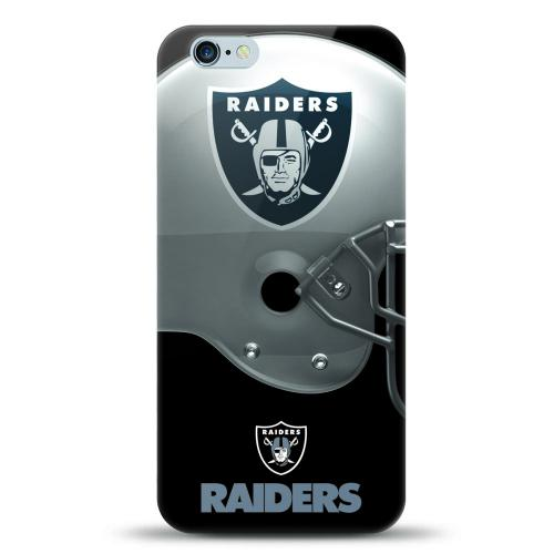 [MIZCO] Apple iPhone 6S Plus / 6 Plus Case, Helmet Series NFL Licensed [Oakland Raiders] Slim & Flexible Anti-shock Crystal Silicone Protective TPU Gel Skin Case Cover