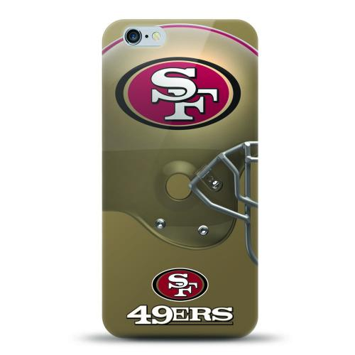 Made for Apple iPhone 6S Plus / 6 Plus Case, Helmet Series NFL Licensed [San Francisco 49ers] Slim Flexible Anti-shock Crystal Silicone Protective TPU Gel Skin Case Cover by Mizco