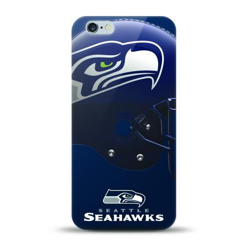 Made for Apple iPhone 6S Plus / 6 Plus Case, Helmet Series NFL Licensed [Seattle Seahawks] Slim Flexible Anti-shock Crystal Silicone Protective TPU Gel Skin Case Cover by Mizco