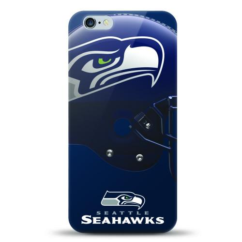 [MIZCO] Apple iPhone 6S / 6 Case, Helmet Series NFL Licensed [Seattle Seahawks] Slim & Flexible Anti-shock Crystal Silicone Protective TPU Gel Skin Case Cover