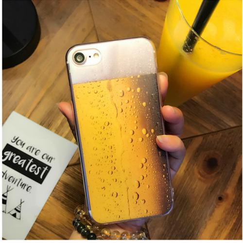 Made for Apple iPhone 8 / 7 / 6S / 6 TPU Case, [Beer Glass] Slim Flexible Anti-shock Crystal Silicone Protective TPU Gel Skin Case Cover by Redshield