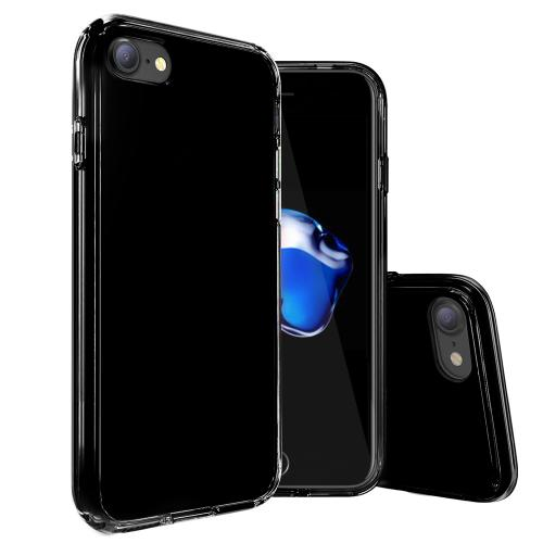 Made for Apple iPhone 8/7/6S/6 Case, [Black] Slim Flexible Anti-shock Crystal Silicone Protective TPU Gel Skin Case Cover with Travel Wallet Phone Stand by Redshield