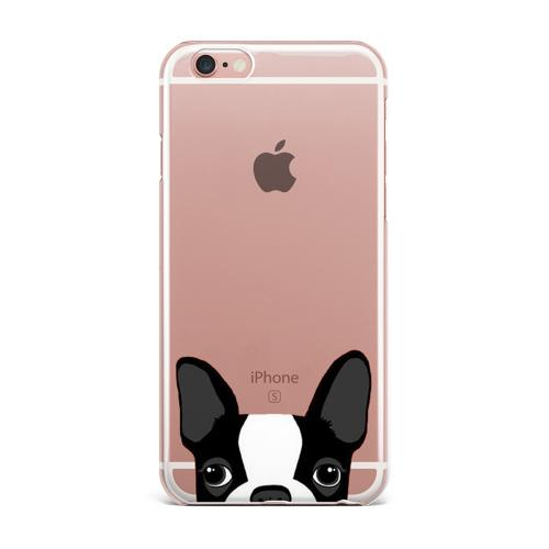 [REDshield] Apple iPhone 8 / 7 / 6S / 6 TPU Case, [Boston Terrier] Slim & Flexible Anti-shock Crystal Silicone Protective TPU Gel Skin Case Cover