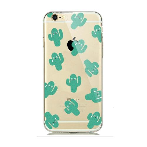 [REDshield] Apple iPhone 8 / 7 / 6S / 6 TPU Case, [Green Cactus] Slim & Flexible Anti-shock Crystal Silicone Protective TPU Gel Skin Case Cover
