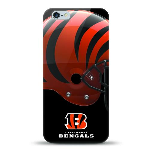 [MIZCO] Apple iPhone 8 / 7 / 6S / 6 Case, Helmet Series NFL Licensed [Cincinnati Bengals] Slim & Flexible Anti-shock Crystal Silicone Protective TPU Gel Skin Case Cover