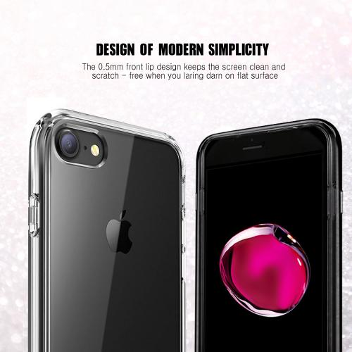Made for Apple Phone 7 (4.7 inch) Case, [Clear] Slim Flexible Anti-shock Crystal Silicone Protective TPU Gel Skin Case Cover with Travel Wallet Phone Stand by Redshield