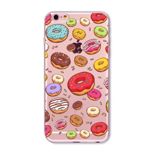[REDshield] Apple iPhone 8 / 7 / 6S / 6 TPU Case, [Colorful Donuts] Slim & Flexible Anti-shock Crystal Silicone Protective TPU Gel Skin Case Cover