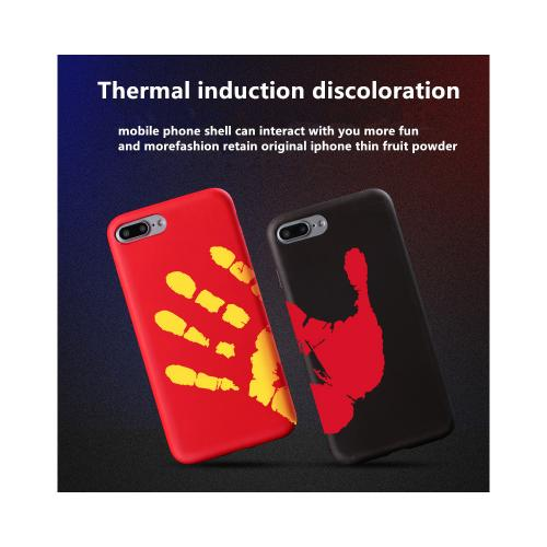 [REDshield] Apple iPhone 8 / 7 / 6S / 6 Heat Sensitive Case, [Black] Slim & Flexible Thermal Induction Anti-shock Crystal Silicone Protective TPU Gel Skin Case Cover - Your Body Heat Changes the Color!