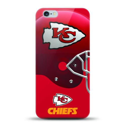 [MIZCO] Apple iPhone 8 / 7 Case, Helmet Series NFL Licensed [Kansas City Chiefs] Slim & Flexible Anti-shock Crystal Silicone Protective TPU Gel Skin Case Cover
