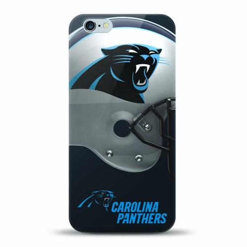 [MIZCO] Apple iPhone 8 / 7 / 6S / 6 Case, Helmet Series NFL Licensed [Carolina Panthers] Slim & Flexible Anti-shock Crystal Silicone Protective TPU Gel Skin Case Cover