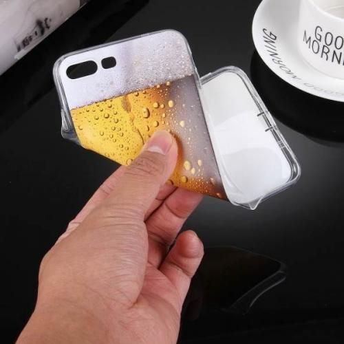 [REDshield] Apple iPhone 8 Plus / 7 Plus / 6S Plus / 6 Plus TPU Case, [Beer Glass] Slim & Flexible Anti-shock Crystal Silicone Protective TPU Gel Skin Case Cover