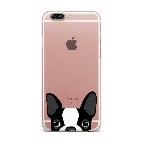 Made for Apple iPhone 8 Plus / 7 Plus / 6S Plus / 6 Plus TPU Case, [Boston Terrier] Slim Flexible Anti-shock Crystal Silicone Protective TPU Gel Skin Case Cover by Redshield