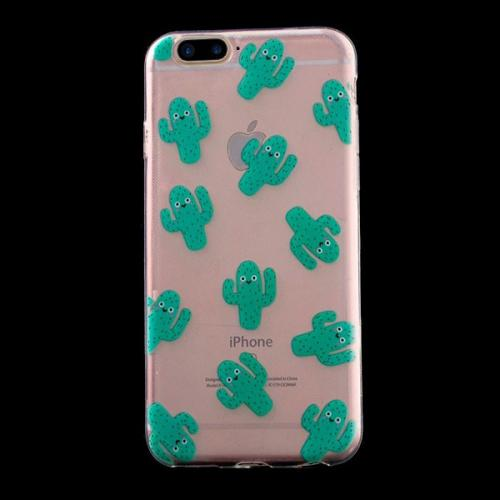 Made for Apple iPhone 8 Plus / 7 Plus / 6S Plus / 6 Plus TPU Case, [Green Cactus] Slim Flexible Anti-shock Crystal Silicone Protective TPU Gel Skin Case Cover by Redshield
