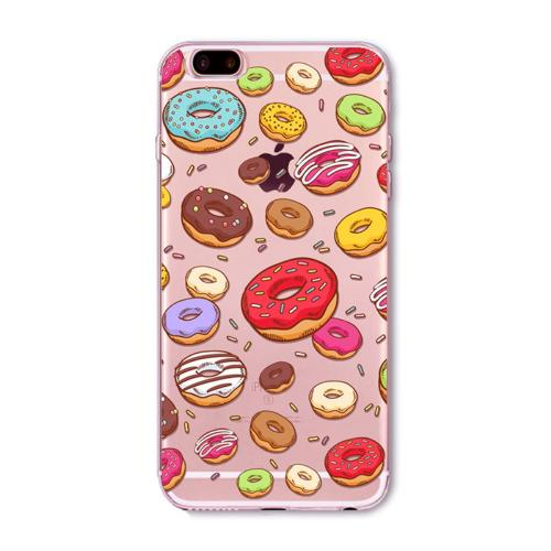 [REDshield] Apple iPhone 8 Plus / 7 Plus / 6S Plus / 6 Plus TPU Case, [Colorful Donuts] Slim & Flexible Anti-shock Crystal Silicone Protective TPU Gel Skin Case Cover