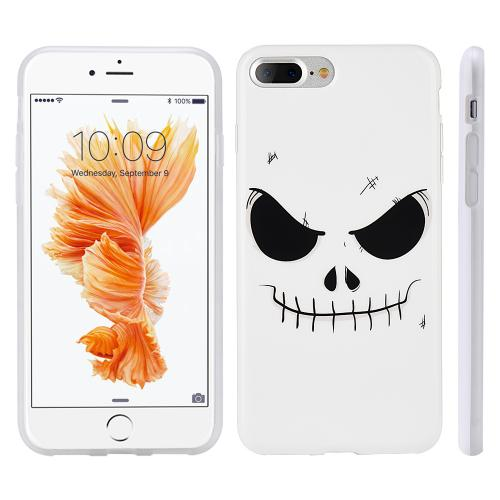 Made for Apple Phone 7 Plus (5.5 inch) Case, Slim Flexible Anti-shock Crystal Silicone Protective TPU Gel Skin Case Cover [Evil Mind Face] with Travel Wallet Phone Stand by Redshield