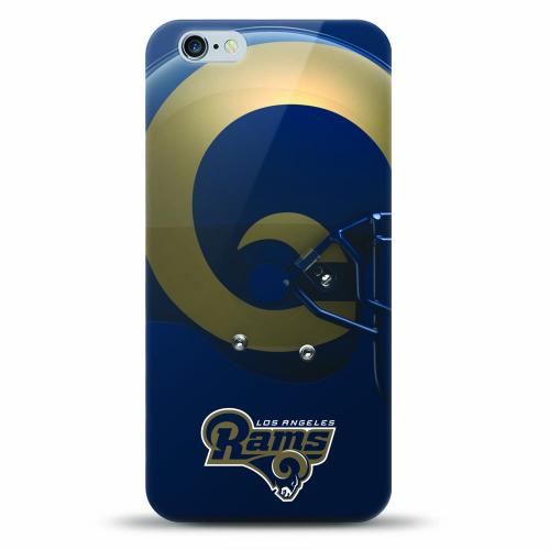 [MIZCO] Apple iPhone 8 Plus / 7 Plus / 6S Plus / 6 Plus Case, Helmet Series NFL Licensed [Los Angeles Rams] Slim & Flexible Anti-shock Crystal Silicone Protective TPU Gel Skin Case Cover