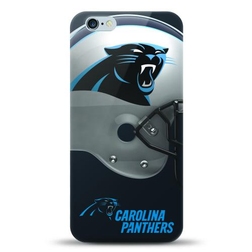 [MIZCO] Apple iPhone 8 Plus / 7 Plus / 6S Plus / 6 Plus Case, Helmet Series NFL Licensed [Carolina Panthers] Slim & Flexible Anti-shock Crystal Silicone Protective TPU Gel Skin Case Cover