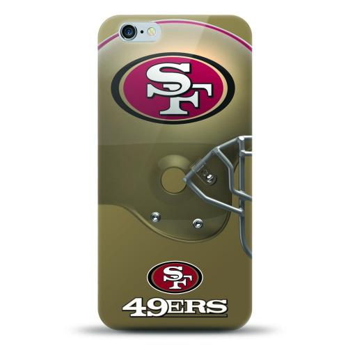 [MIZCO] Apple iPhone 8 Plus / 7 Plus / 6S Plus / 6 Plus Case, Helmet Series NFL Licensed [San Francisco 49ers] Slim & Flexible Anti-shock Crystal Silicone Protective TPU Gel Skin Case Cover