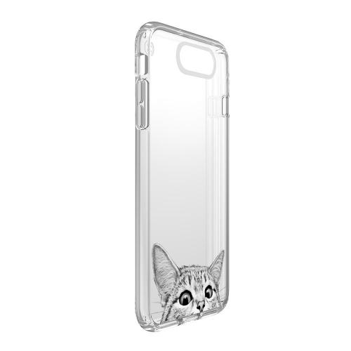 [REDshield] Apple iPhone 8 Plus / 7 Plus / 6S Plus / 6 Plus TPU Case, [Tabby Kitty Cat] Slim & Flexible Anti-shock Crystal Silicone Protective TPU Gel Skin Case Cover