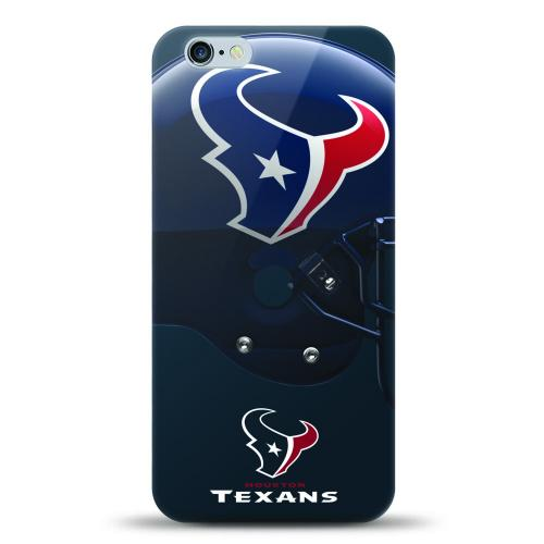 [MIZCO] Apple iPhone 8 Plus / 7 Plus / 6S Plus / 6 Plus Case, Helmet Series NFL Licensed [Houston Texans] Slim & Flexible Anti-shock Crystal Silicone Protective TPU Gel Skin Case Cover