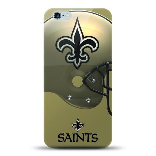 [MIZCO] Apple iPhone 8 / 7 / 6S / 6 Case, Helmet Series NFL Licensed [New Orleans Saints] Slim & Flexible Anti-shock Crystal Silicone Protective TPU Gel Skin Case Cover