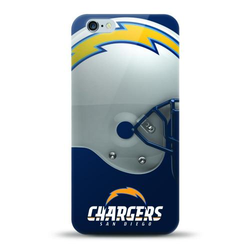 [MIZCO] Apple iPhone 8 / 7 / 6S / 6 Case, Helmet Series NFL Licensed [San Diego Chargers] Slim & Flexible Anti-shock Crystal Silicone Protective TPU Gel Skin Case Cover